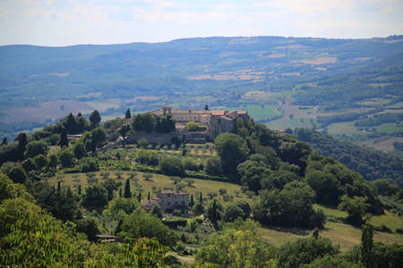 View of the countryside from the hill of the city of Todi