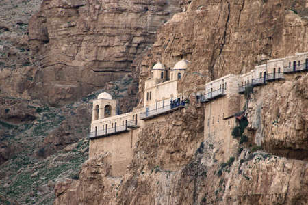 The Mount of Temptations near the city of Jericho in Palestine