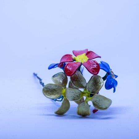 Beautiful colorful handmade flowers Imagens
