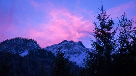 Particular sunset in the Dolomites
