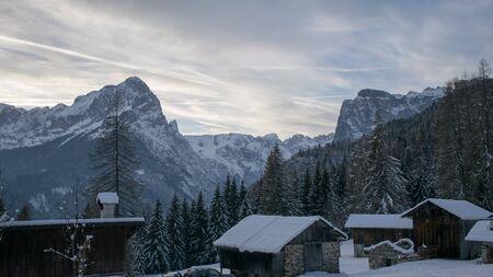 Winter barns Imagens