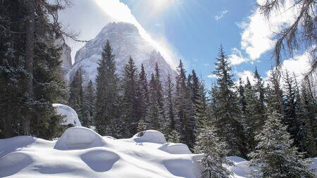 Winter season in the mountain Imagens