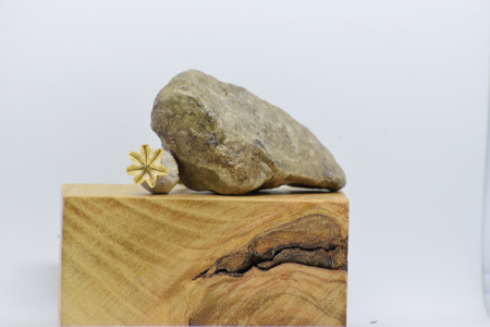 Wood, stone and dried flowers