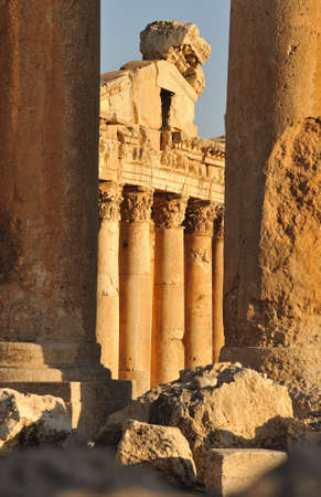 ancient Roman temple in baalbeck lebanon