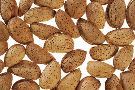 almonds on a white background photo