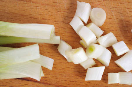 leeks: leeks  Stock Photo
