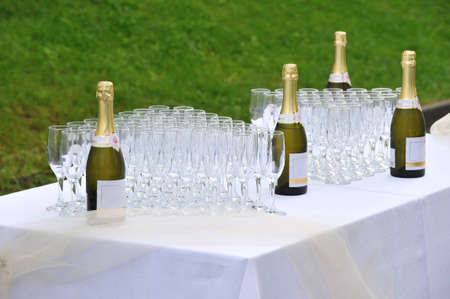 table with champagne photo