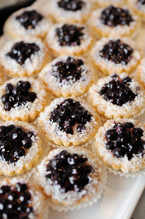 sweet with blueberry Stock Photo