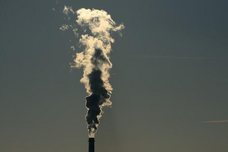 Chimney with dense smoke