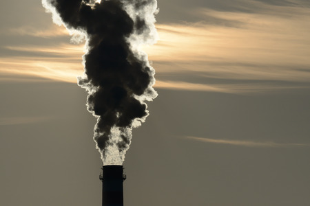 chimney pollutes the air