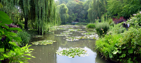 A beautiful Claude Monets gardens in Giverny, France photo