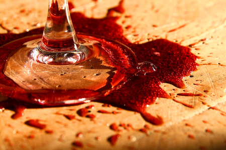 Wine on the table...like a murder :-)