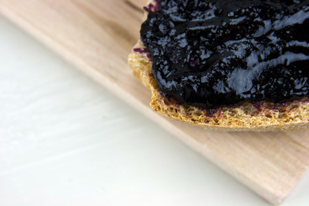 integral: Homemade blueberry jam with integral bread