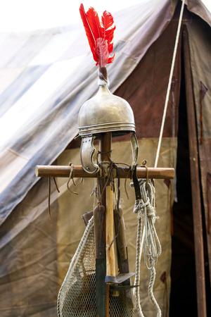 roman empire: Copy of ancient helmet of Roman legionnaire.
