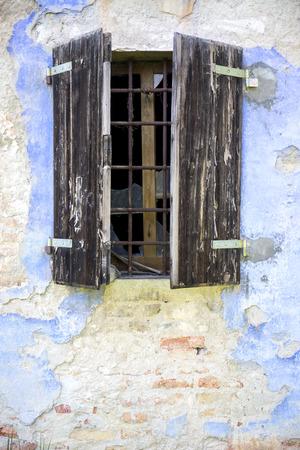 abandoned farmhouse abandoned farmhouse: Old windows of an abandoned farmhouse.