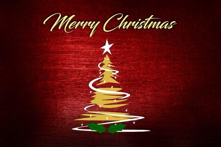 Christmas background with Christmas tree, vector illustration. Reklamní fotografie
