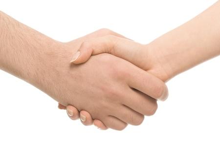 Business or friendly handshake photo