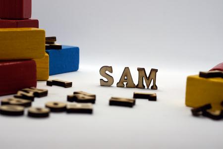 nombre masculino popular sam Foto de archivo