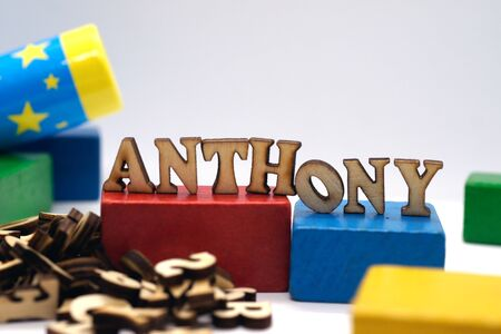 Popular american and european male first name anthony Foto de archivo