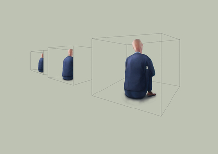 business man in isolation illustration Banco de Imagens