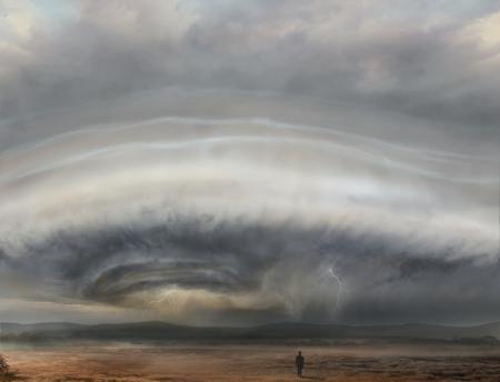 stormy cloud illustration Фото со стока