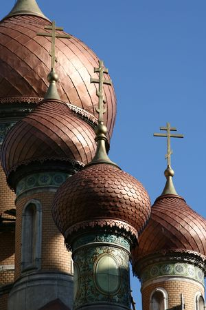 The Towers of the Russian Church in Bucharest