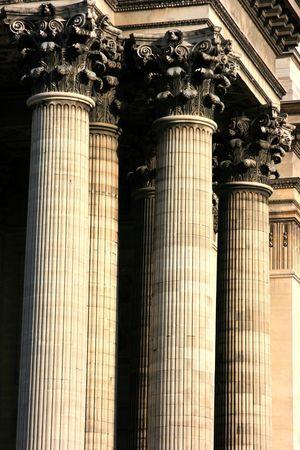 corinthian: Corinthian capitol from the Pantheon of Paris Stock Photo