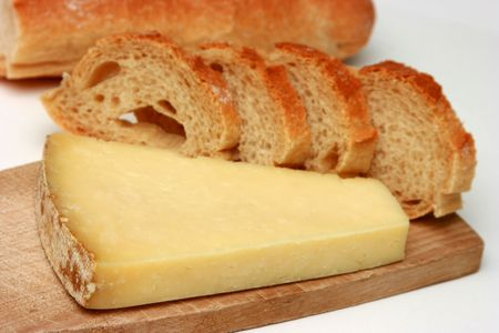 cantal: French desert - cheese with traditional bread