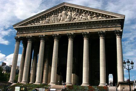 La Madeleine church in Paris Banque d'images