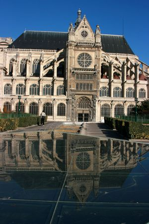 Saint-Eustache church in Paris, side view photo
