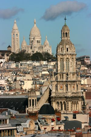 The Sainte-Trinite and Sacre-Coeur churches Banque d'images
