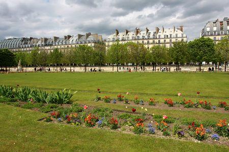Jardin de Tuilleries, Paris, France Banque d'images