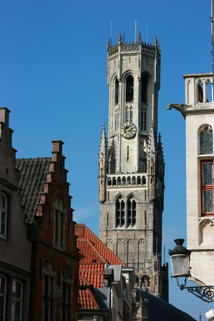 middleages: The Belfry Tower, Bruges, Belgium