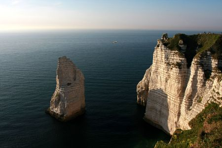 Spectacular cliffs, Etretat, Normandy, France photo