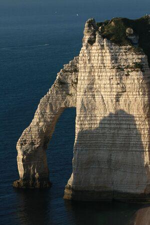 coast line: Spectacular natural arch, Etretat, Normandy, France