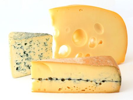Three varieties of french cheese