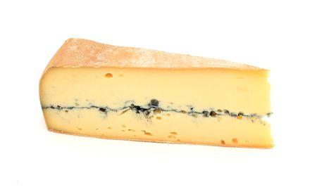 フランス産チーズ、モルビエ様々 な; のスライス白の分離