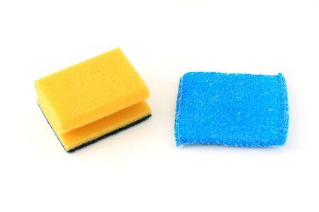 Kitchen sponges, isolated on white photo
