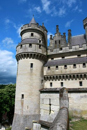 middleages: Defense tower, Pierrefonds Castle, Picardy, France Stock Photo