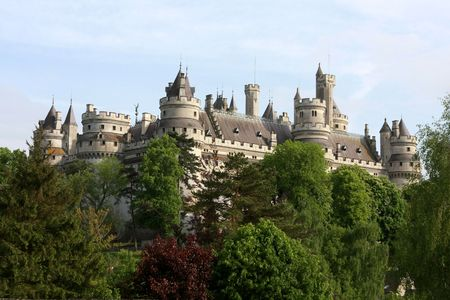 middleages: The Pierrefonds Castle, Picardie, France