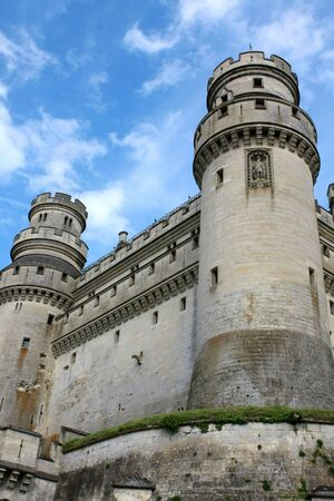 middleages: Defense towers, Pierrefonds Castle, Picardy, France