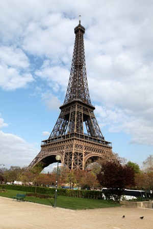 Wide-angle view from Quay Branly of the Eiffel Tower photo