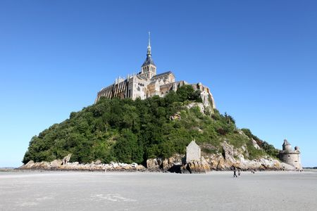 mont saint michel: The abbey of Saint Michel, France Stock Photo