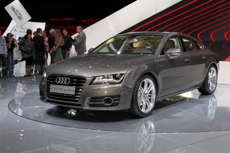 Paris Motor Show 2-17 October 2010: the Audi A7 Quattro Éditoriale