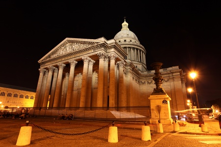 The Pantheon by night, Paris, France Banque d'images