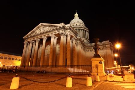pantheon: The Pantheon by night, Paris, France Stock Photo