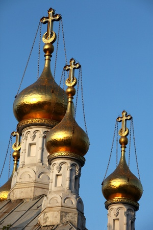 spire: Onion-shaped, Russian church spire