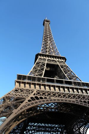 wideangle: Wide-angle view of the Eiffel Tower, Paris, France