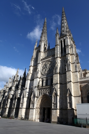 The Saint Andrew Cathedral in Bordeaux, France