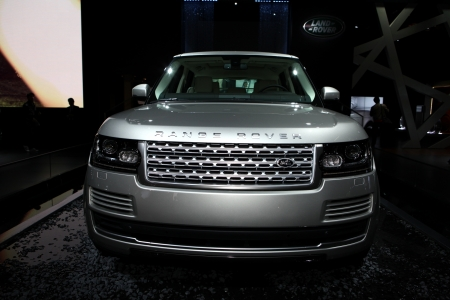 The new Range Rover - Land Rover displayed at the 2012 Paris Motor Show on September 30, 2012 in Paris